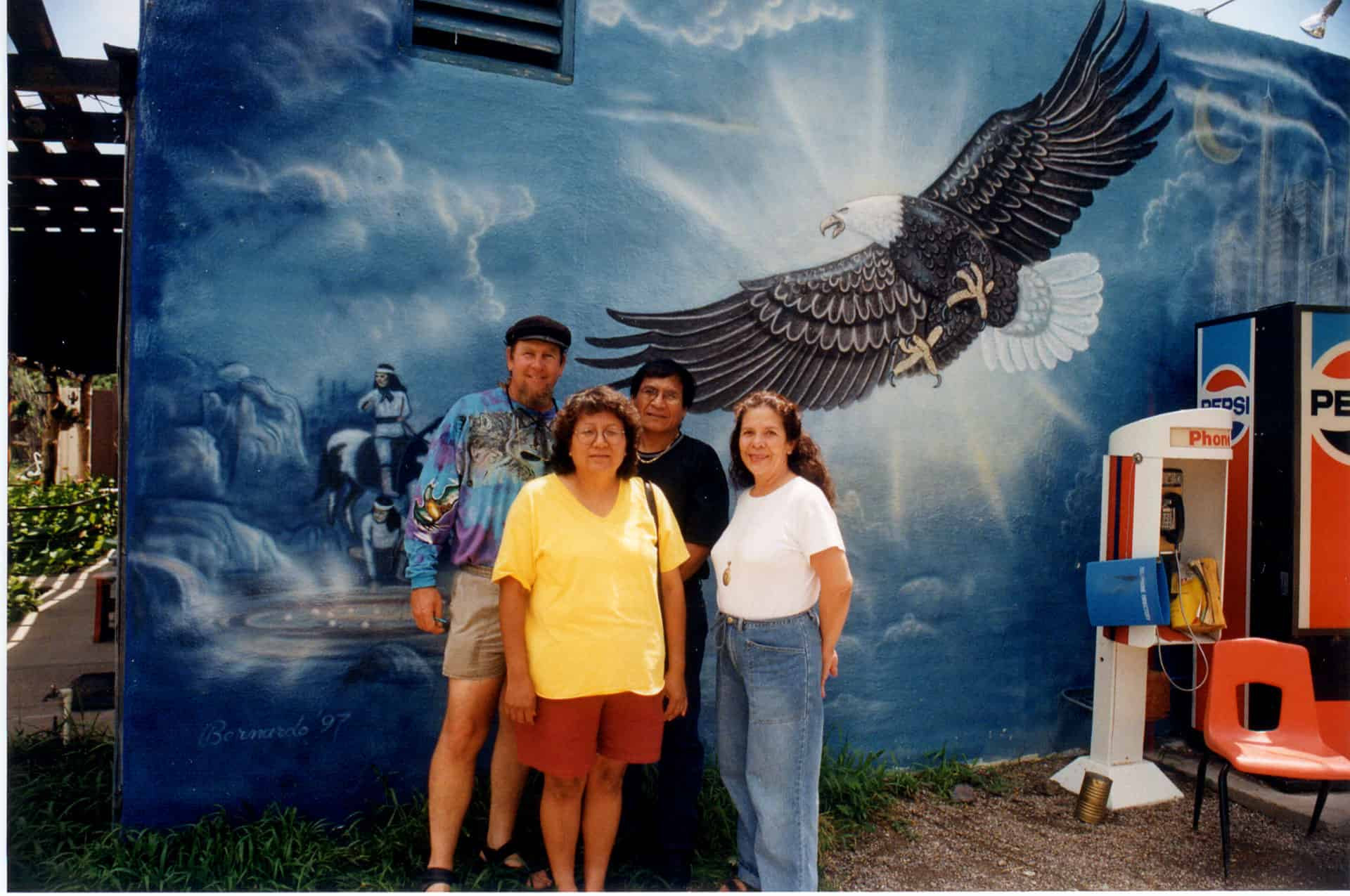 Harlyn Geronimo, his wife, and the Foerstners