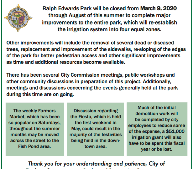 Ralph Edwards Park Closure